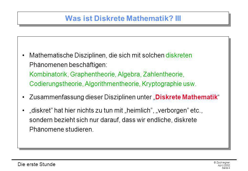 Was ist Diskrete Mathematik III