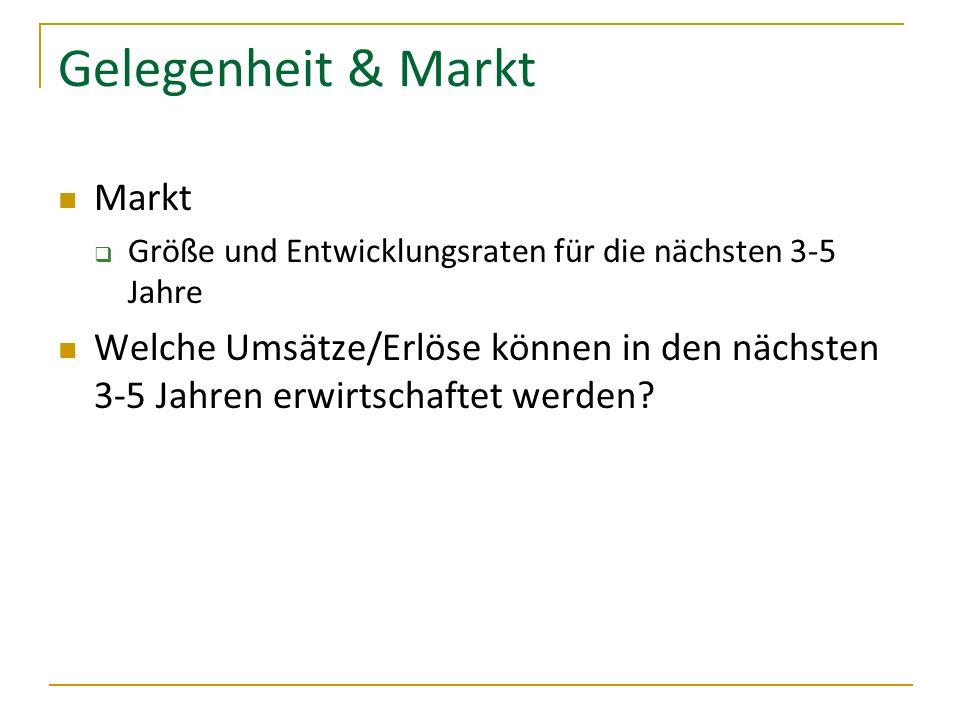 Gelegenheit & Markt Markt
