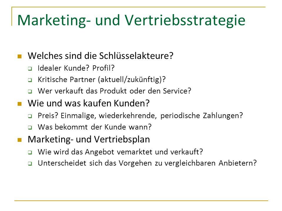 Marketing- und Vertriebsstrategie
