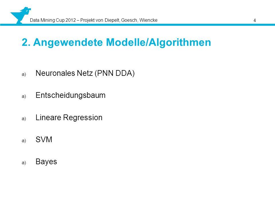 2. Angewendete Modelle/Algorithmen