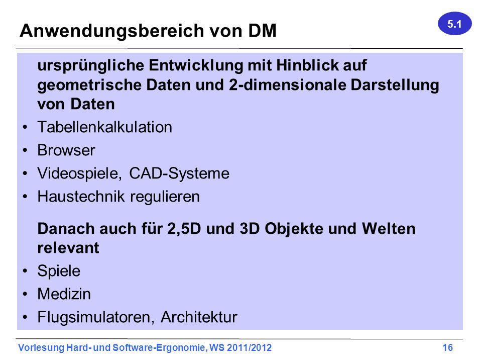 Anwendungsbereich von DM