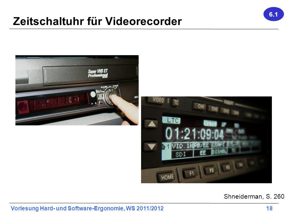 Zeitschaltuhr für Videorecorder
