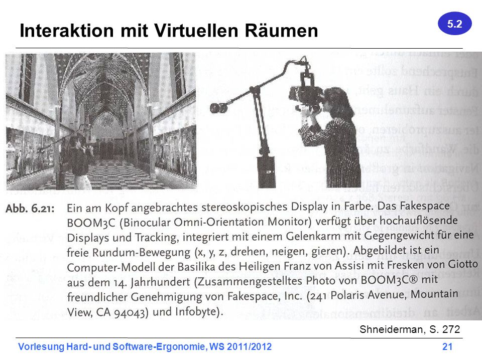 Interaktion mit Virtuellen Räumen