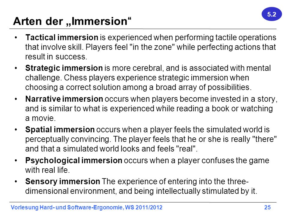 "5.2 Arten der ""Immersion"