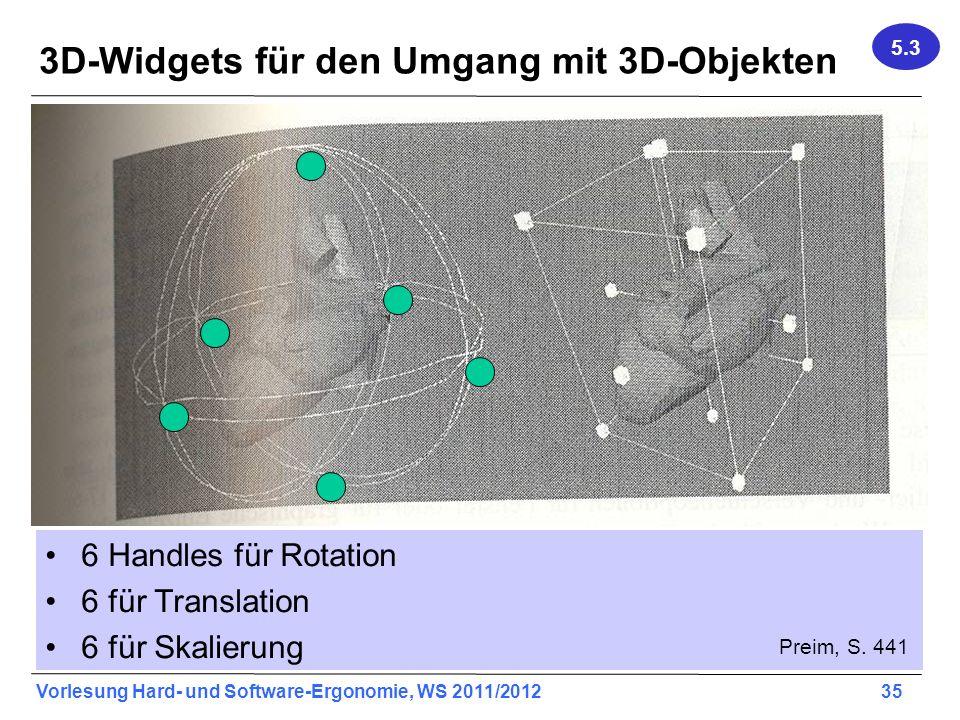 3D-Widgets für den Umgang mit 3D-Objekten