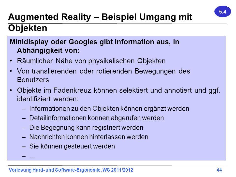 Augmented Reality – Beispiel Umgang mit Objekten