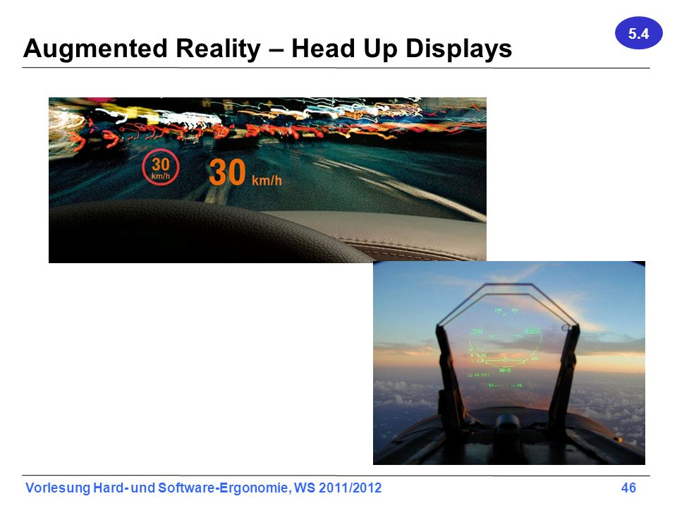 Augmented Reality – Head Up Displays