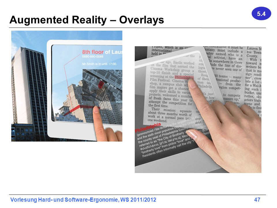 Augmented Reality – Overlays