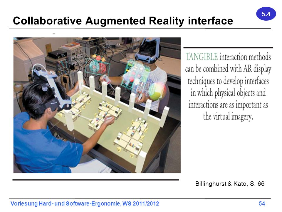 Collaborative Augmented Reality interface