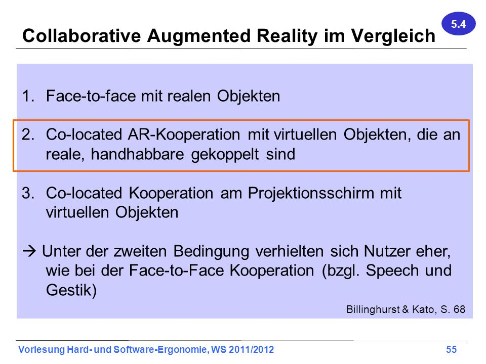 Collaborative Augmented Reality im Vergleich