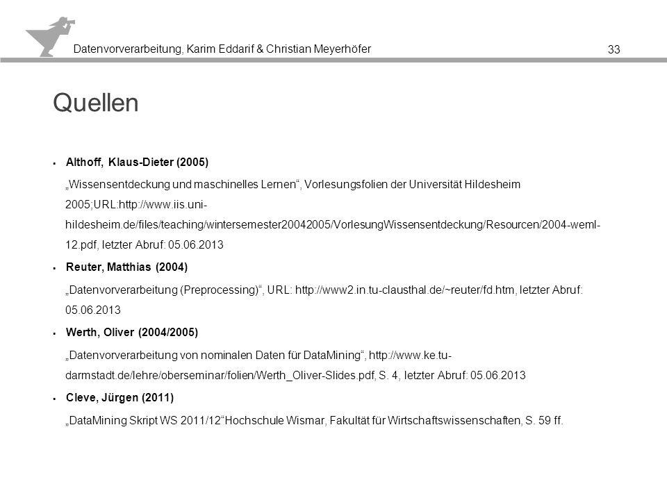 Quellen Althoff, Klaus-Dieter (2005)