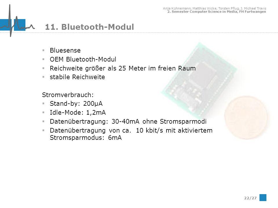 11. Bluetooth-Modul Bluesense OEM Bluetooth-Modul