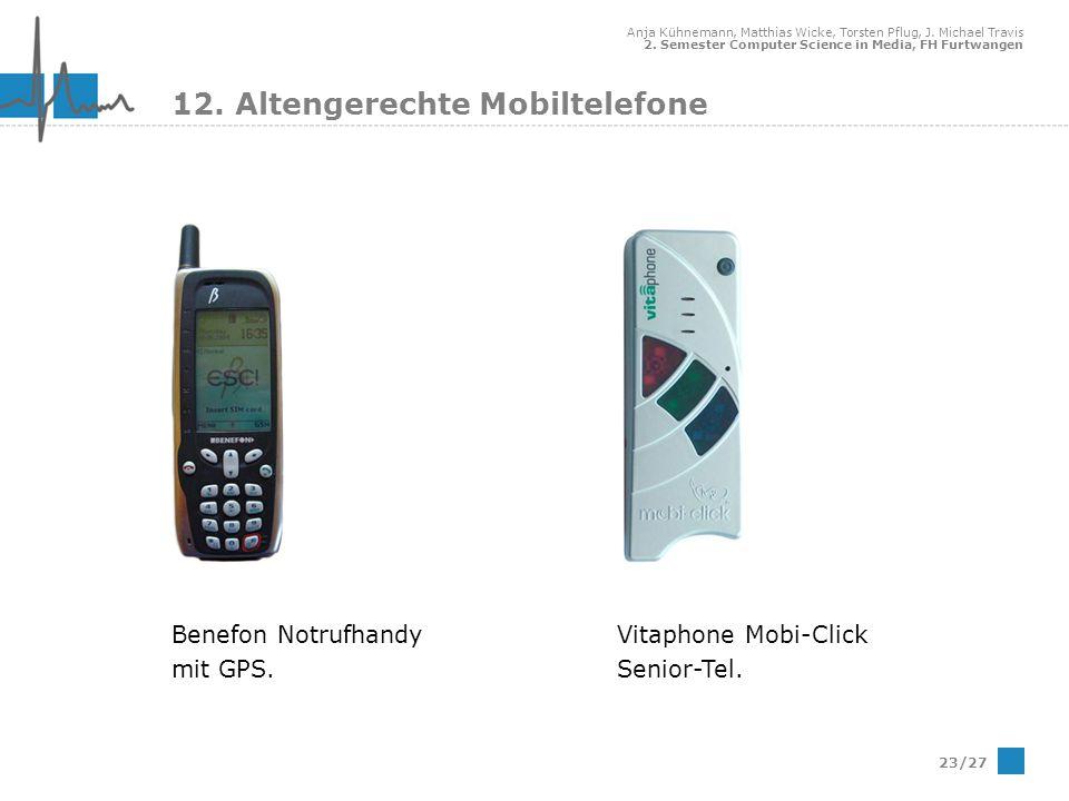 12. Altengerechte Mobiltelefone