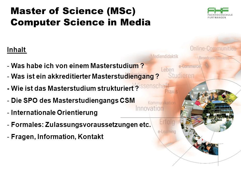 Master of Science (MSc) Computer Science in Media
