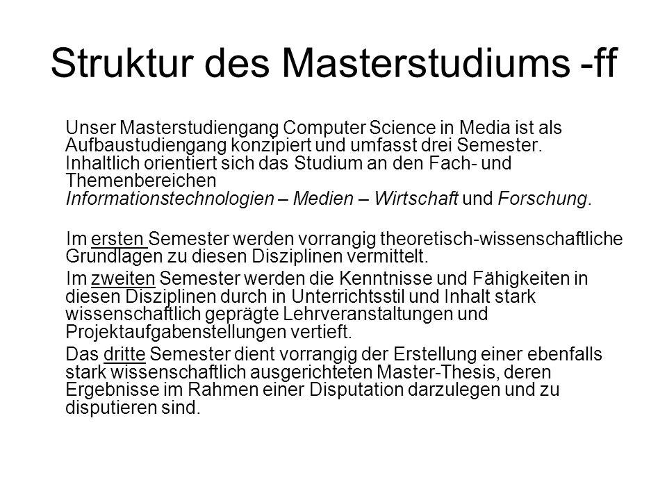 Struktur des Masterstudiums -ff