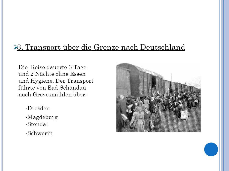3. Transport über die Grenze nach Deutschland