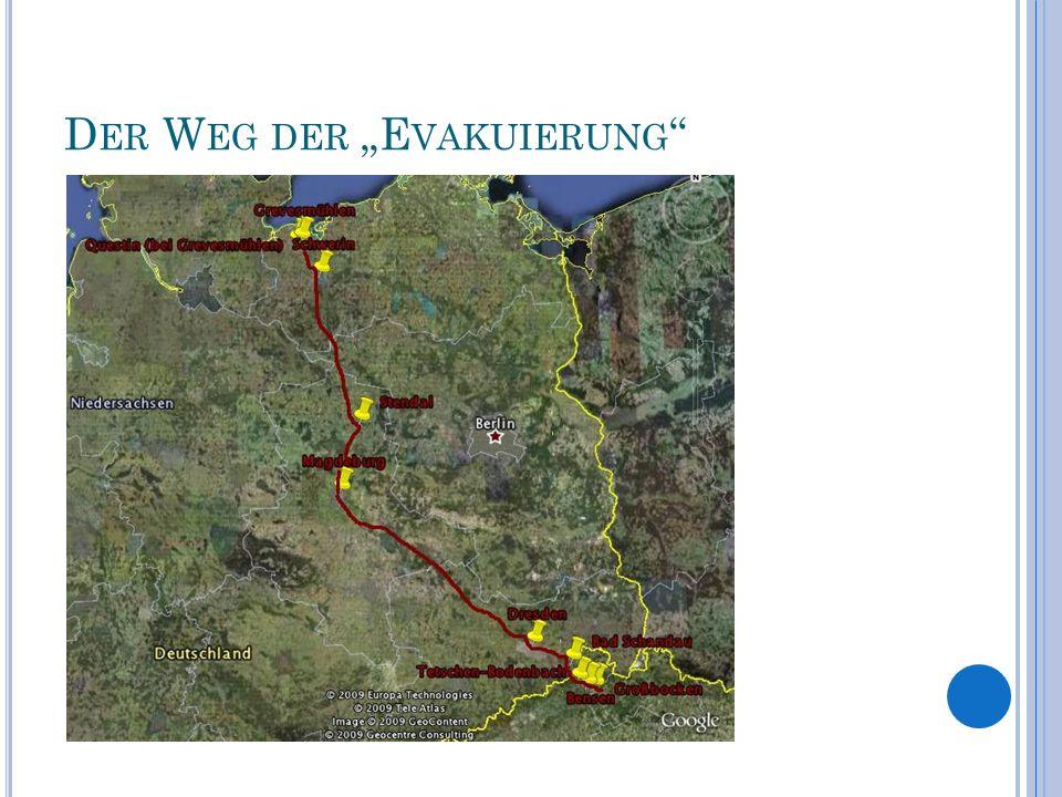 """Der Weg der """"Evakuierung"""