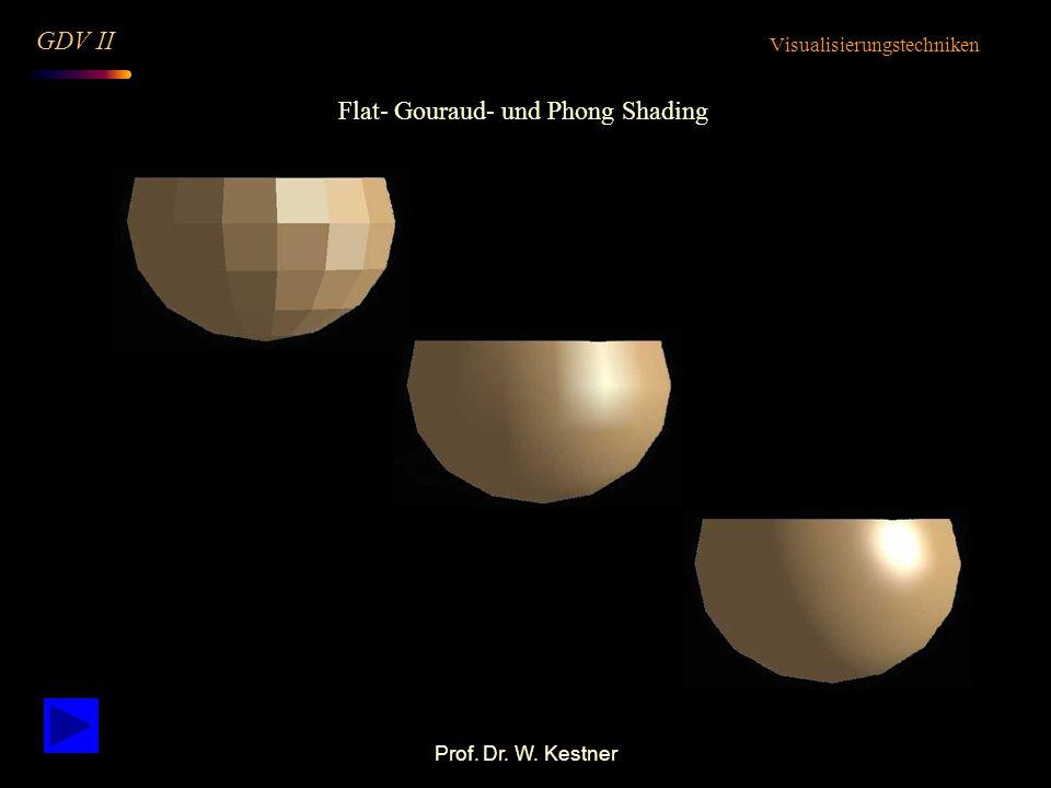 Flat- Gouraud- und Phong Shading