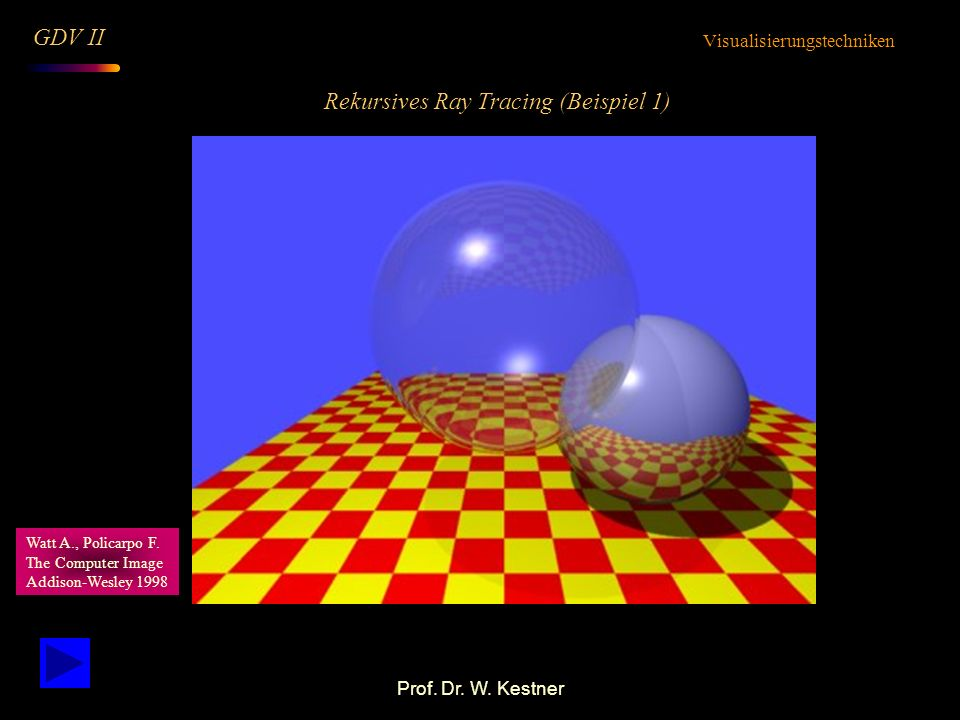 Rekursives Ray Tracing (Beispiel 1)