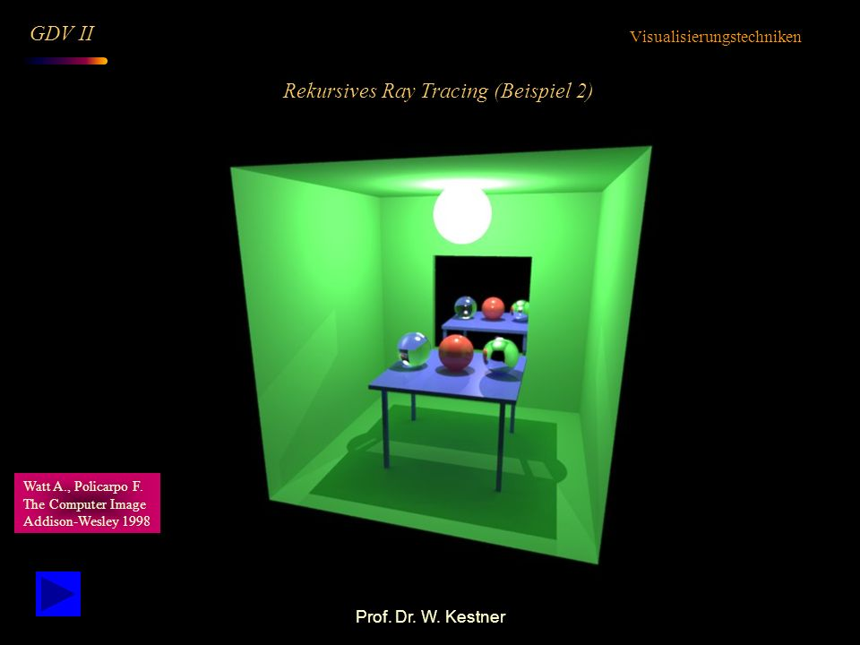 Rekursives Ray Tracing (Beispiel 2)