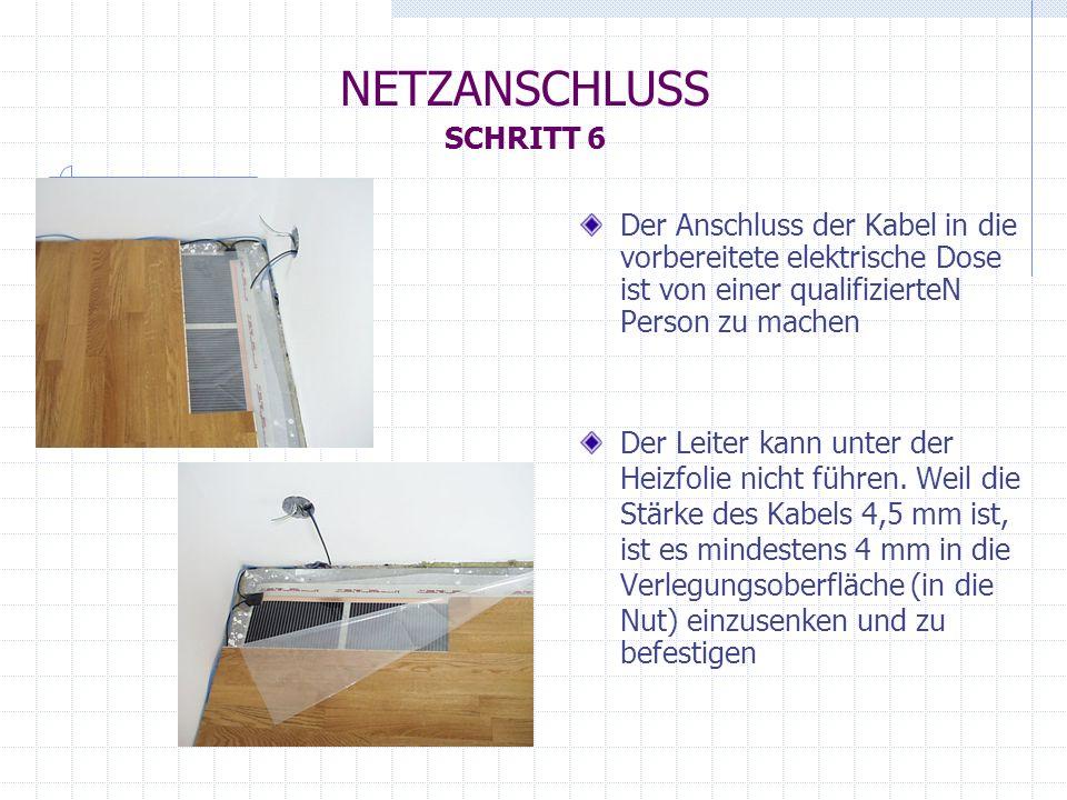 NETZANSCHLUSS SCHRITT 6