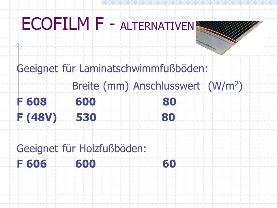 ECOFILM F - ALTERNATIVEN