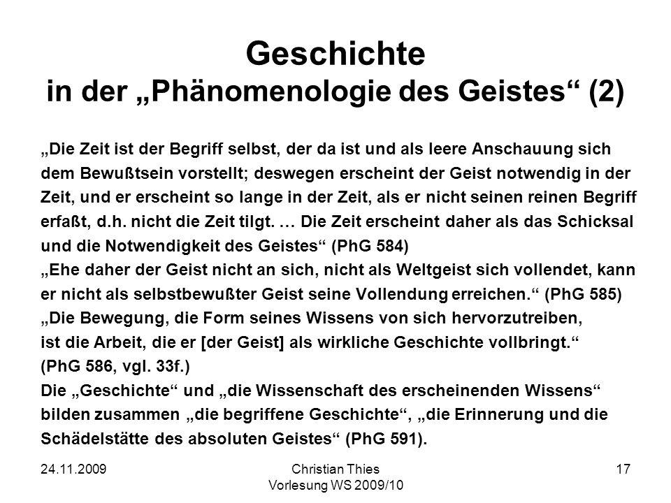 """Geschichte in der """"Phänomenologie des Geistes (2)"""