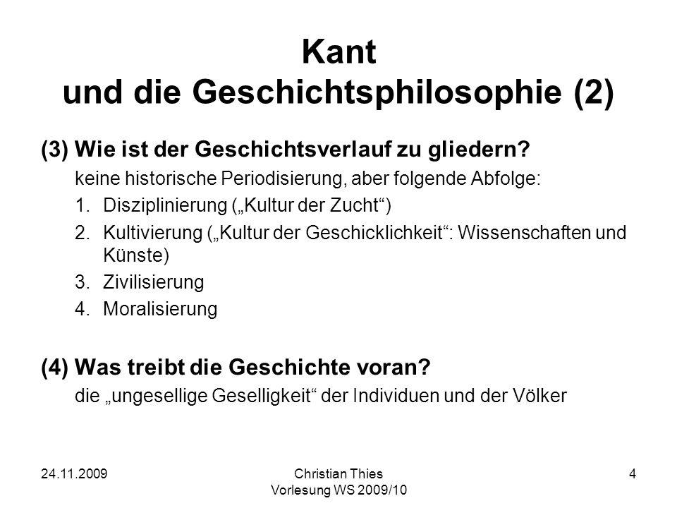 Kant und die Geschichtsphilosophie (2)