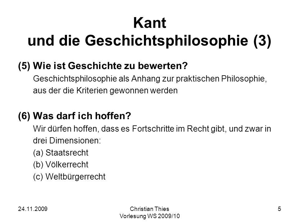 Kant und die Geschichtsphilosophie (3)