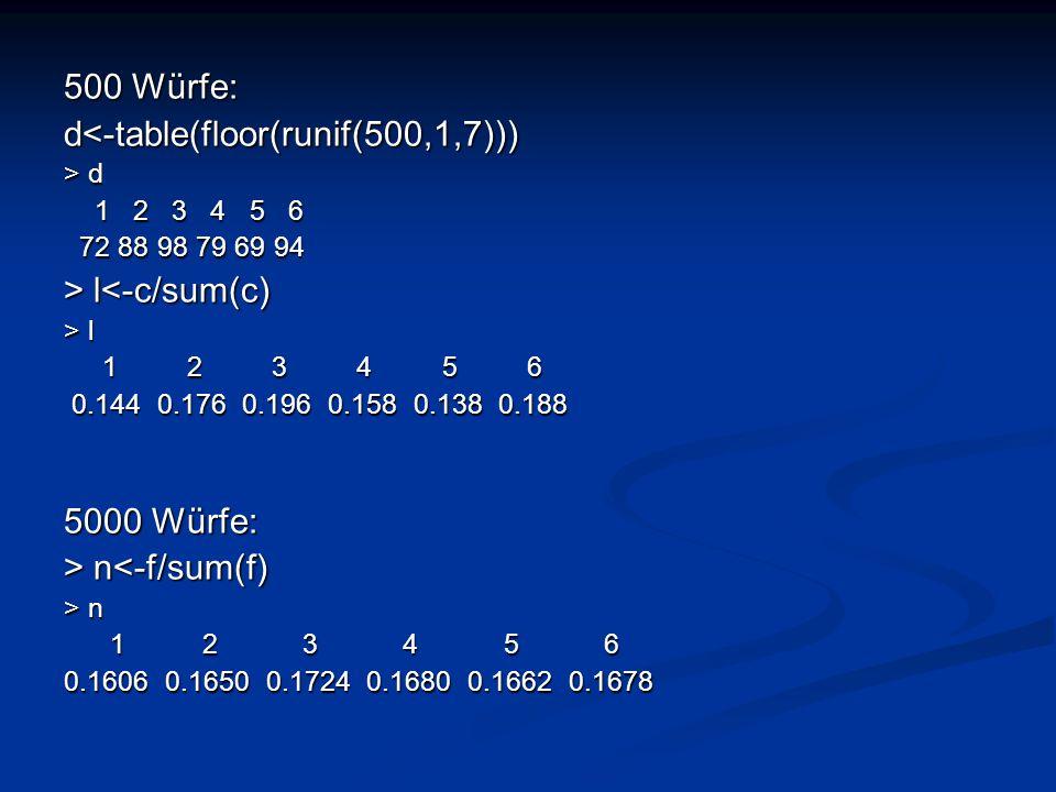 d<-table(floor(runif(500,1,7)))