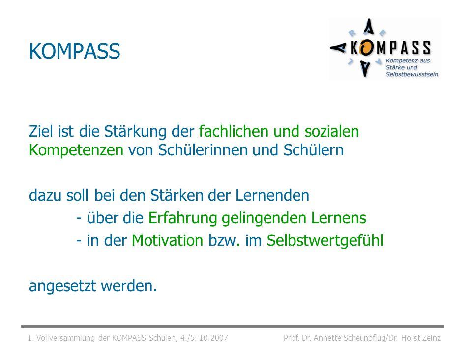 KOMPASS Ziel ist die Stärkung der fachlichen und sozialen Kompetenzen von Schülerinnen und Schülern.