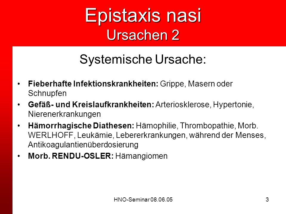 Epistaxis nasi Ursachen 2