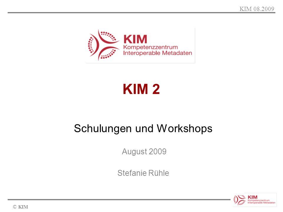 Schulungen und Workshops August 2009 Stefanie Rühle