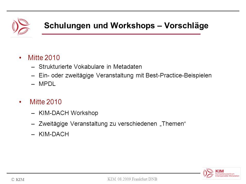 Schulungen und Workshops – Vorschläge