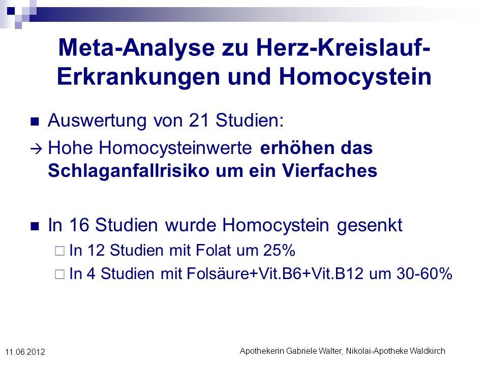 Meta-Analyse zu Herz-Kreislauf-Erkrankungen und Homocystein