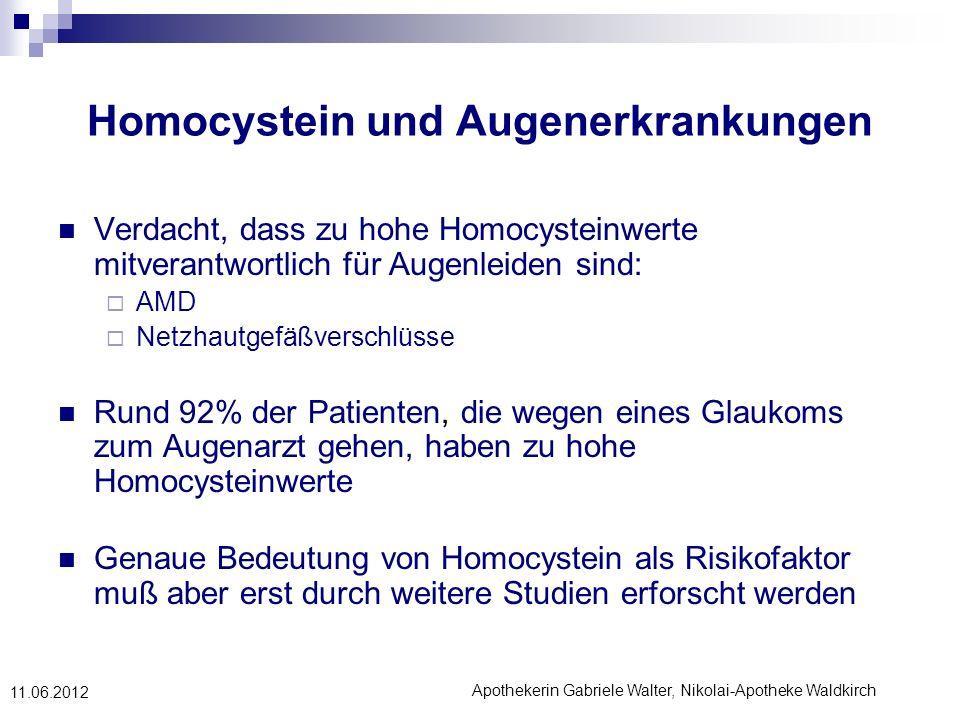 Homocystein und Augenerkrankungen