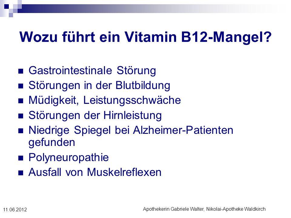 Wozu führt ein Vitamin B12-Mangel