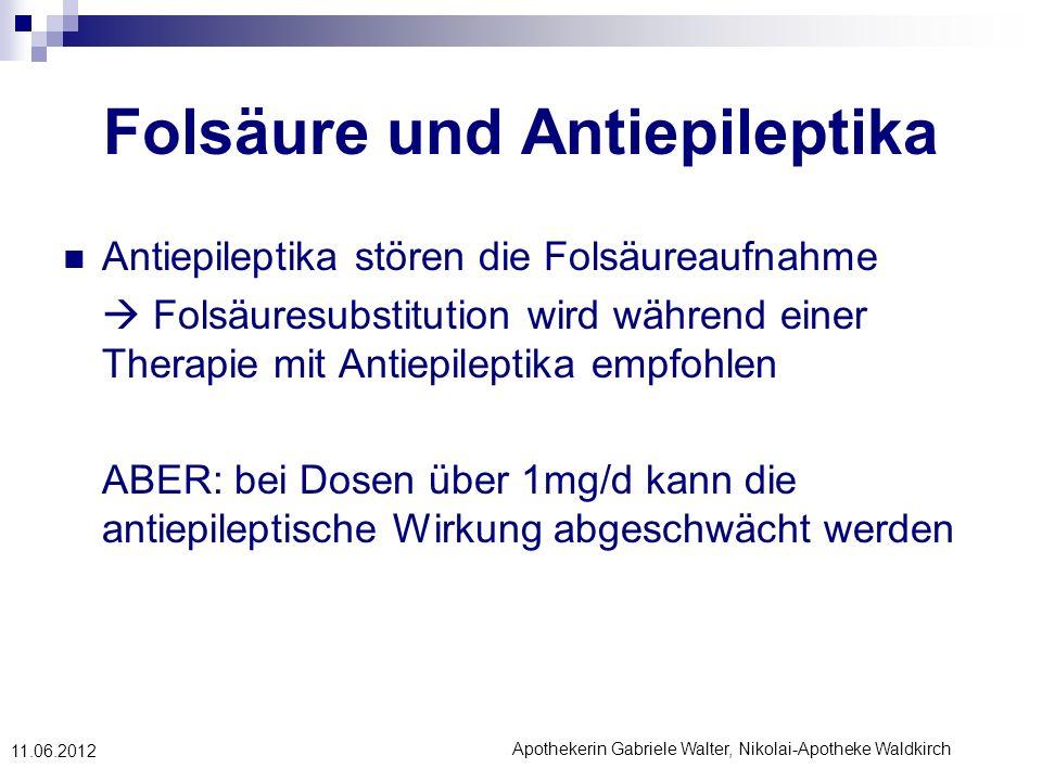 Folsäure und Antiepileptika