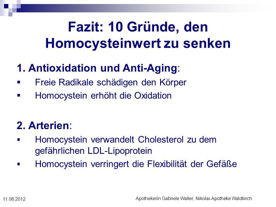 Fazit: 10 Gründe, den Homocysteinwert zu senken