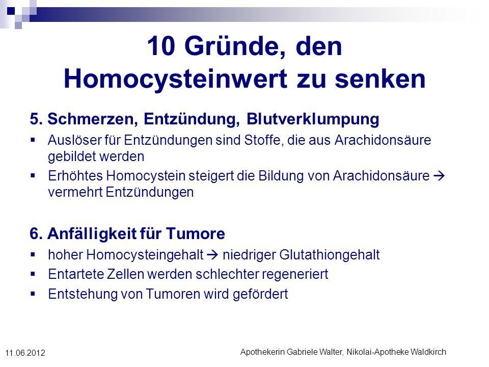 10 Gründe, den Homocysteinwert zu senken