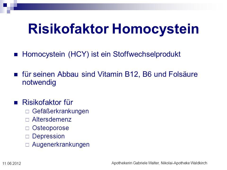 Risikofaktor Homocystein