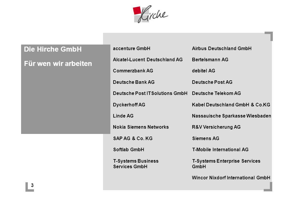 Die Hirche GmbH Für wen wir arbeiten