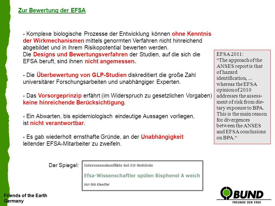 Zur Bewertung der EFSA