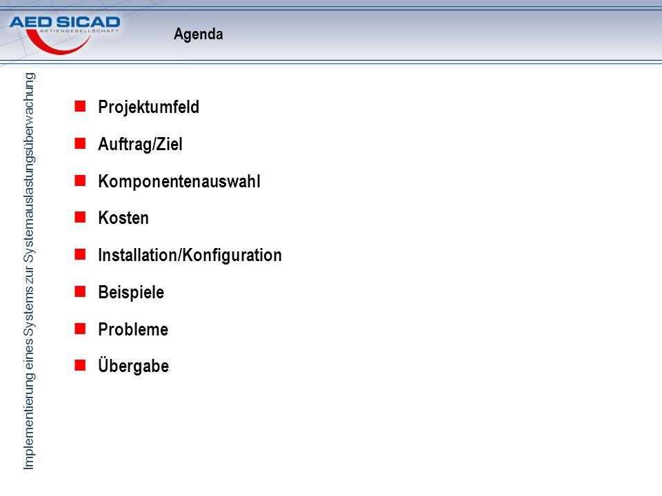 Installation/Konfiguration Beispiele Probleme Übergabe