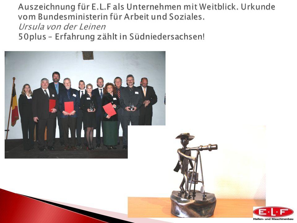 Auszeichnung für E. L. F als Unternehmen mit Weitblick