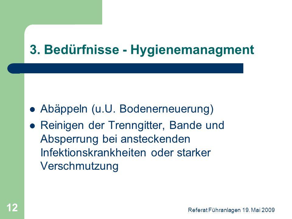 3. Bedürfnisse - Hygienemanagment