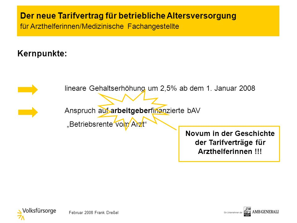 Novum in der Geschichte der Tarifverträge für Arzthelferinnen !!!