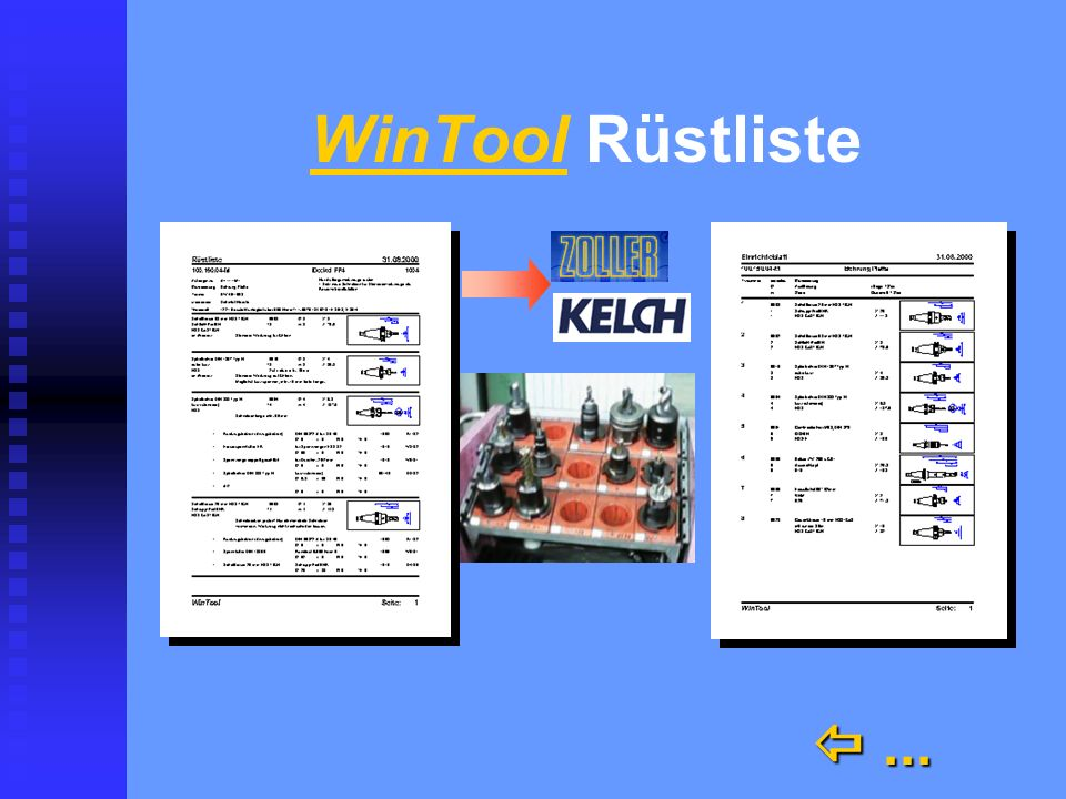 WinTool Rüstliste