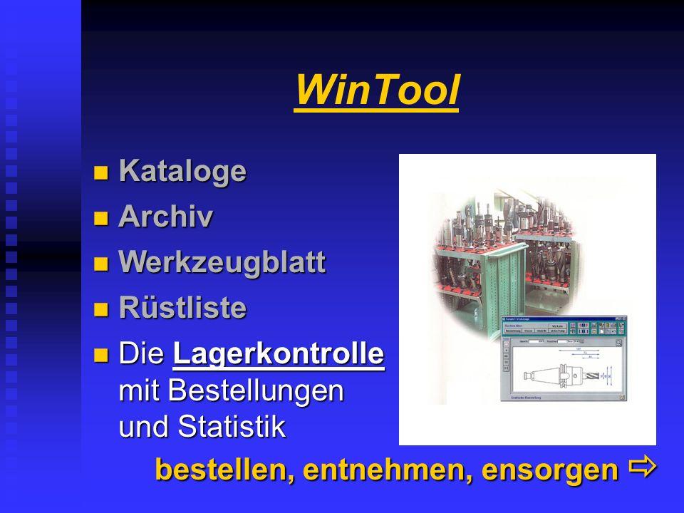 WinTool Kataloge Archiv Werkzeugblatt Rüstliste