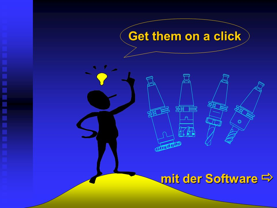 Get them on a click mit der Software 
